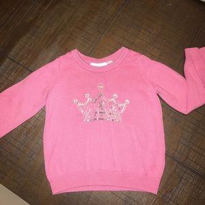 Pink Princess Sweater- Girl Toddler size 3T